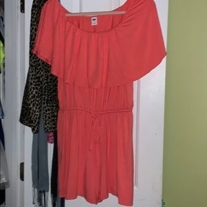 Old Navy off the shoulder sinched romper